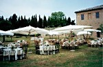 Receptions and events in the park of Castello di Grotti - Siena -Tuscany